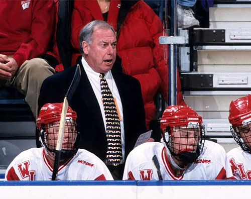 Jeff Sauer, during his time as head coach of the Badgers (photo: Wisconsin athletic communications)