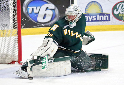 Mathias Dahlstrom is off to a strong start as NMU's goaltender