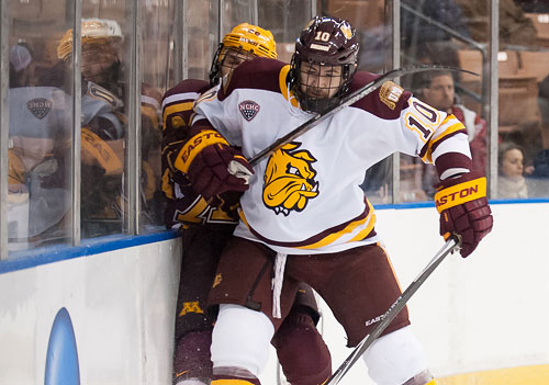 Minnesota-Duluth was picked first in preseason NCHC polls, with most of its team coming back after making the NCAA final eight a year ago. (photo: Josh Gibney)
