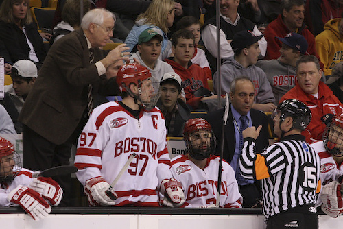 BU coach Jack Parker is not concerned despite losing four straight games at Agganis Arena.